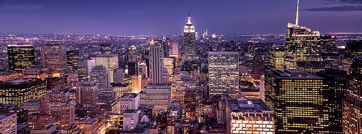 Skyline New York @ Night © Mario Dirks klein
